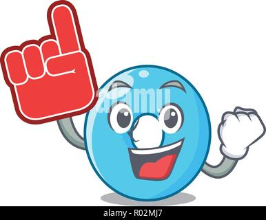 Foam finger number zero isolated on the mascot - Stock Photo