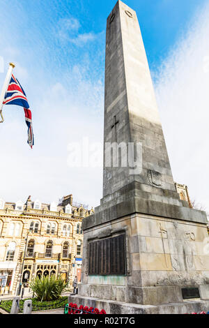 Harrogate Yorkshire UK England, Harrogate, obelisk, War Memorials, Harrogate Obelisk, Harrogate War Memorial, - Stock Photo