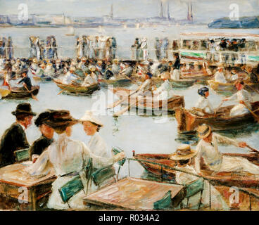 Max Liebermann, On the Alster in Hamburg 1910 Oil on canvas, Galerie Neue Meister, Dresden, Germany. - Stock Photo