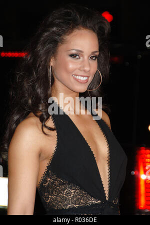 Alicia Keys arriving at the Smokin' Aces at the Chinese Theatre In Los Angeles. January 18, 2007.  smile portrait headshot 02 KeysAlicia026 Red Carpet Event, Vertical, USA, Film Industry, Celebrities,  Photography, Bestof, Arts Culture and Entertainment, Topix Celebrities fashion /  Vertical, Best of, Event in Hollywood Life - California,  Red Carpet and backstage, USA, Film Industry, Celebrities,  movie celebrities, TV celebrities, Music celebrities, Photography, Bestof, Arts Culture and Entertainment,  Topix, headshot, vertical, one person,, from the year , 2007, inquiry tsuni@Gamma-USA.com - Stock Photo