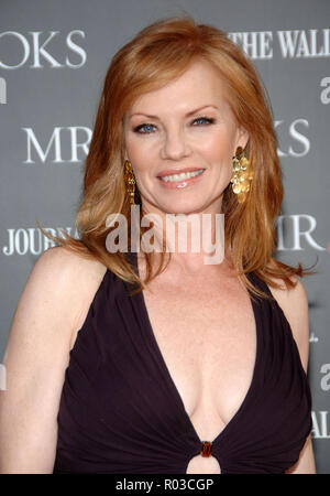 Marg Helgenberger arriving at Mr BROOKS Premiere at the Chinese  Theatre In Los Angeles.   headshot eye contact smile purple dressHelgenbergerMarg 168 Red Carpet Event, Vertical, USA, Film Industry, Celebrities,  Photography, Bestof, Arts Culture and Entertainment, Topix Celebrities fashion /  Vertical, Best of, Event in Hollywood Life - California,  Red Carpet and backstage, USA, Film Industry, Celebrities,  movie celebrities, TV celebrities, Music celebrities, Photography, Bestof, Arts Culture and Entertainment,  Topix, headshot, vertical, one person,, from the year , 2007, inquiry tsuni@Gam - Stock Photo