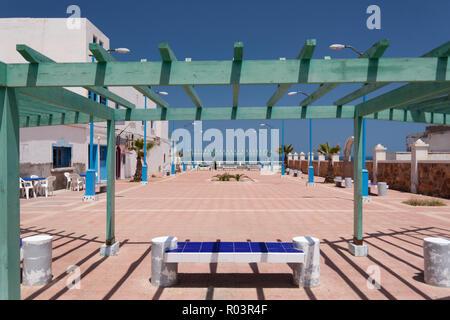 Public square in Sii Ifni, Morocco - Stock Photo