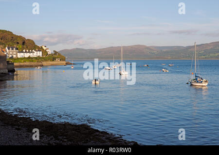Late summer evening scene on the Dovey (Dyfi) estuary at Aberdovey (Aberdyfi) in Wales. - Stock Photo