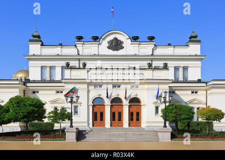 The Bulgarian National Assembly Building (1886) in Sofia, Bulgaria - Stock Photo