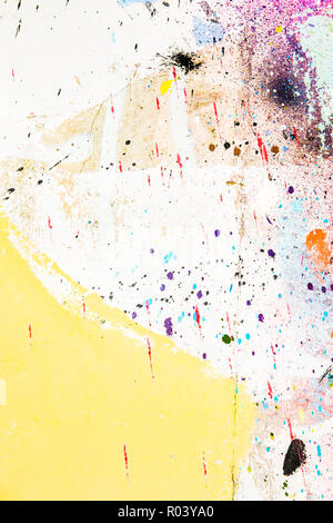 paint on concrete wall, abstract pastel colored grunge background - Stock Photo