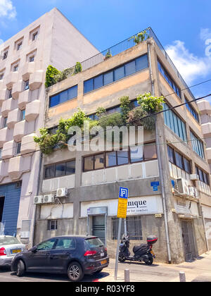 Tel Aviv-Yafo, Israel - June 6, 2018: Generic architecture and cityscape from Tel Aviv, Modern and old buildings in the central streets of Tel Aviv-Ya - Stock Photo