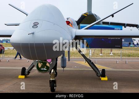 General Atomics  MQ-9B Sky guardian UAV at the 2018 Royal International Air Tattoo - Stock Photo