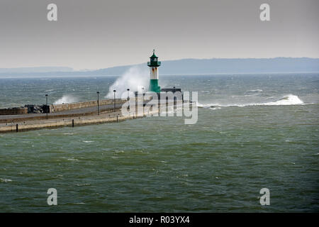 Baltic Sea island Ruegen, Mecklenburg-Western Pomerania, Germany - Lighthouse Sassnitz
