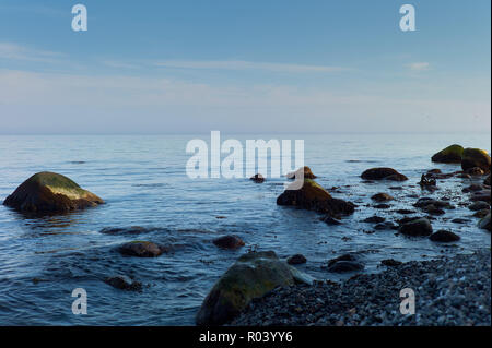 Ruegen, Mecklenburg-Western Pomerania, Germany - Baltic Sea coast in Jasmund National Park - Stock Photo