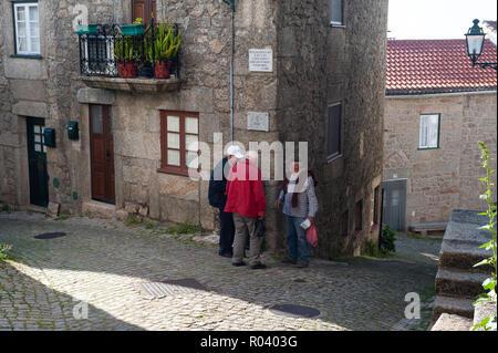 Monsanto, Portugal, street scene in the mountain village Monsanto - Stock Photo