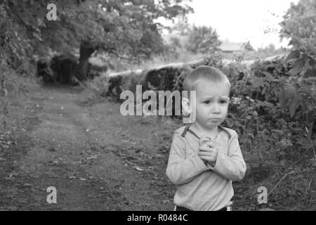 Little boy in nature - Stock Photo
