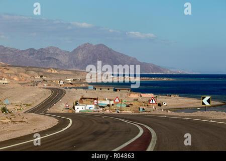 Road in South Sinai. Egypt - Stock Photo