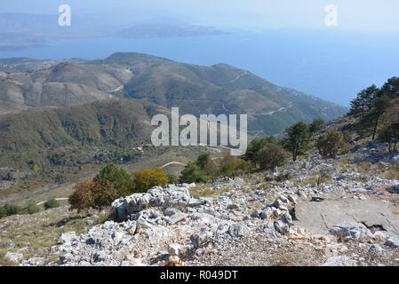 View from Mount Pantokrator - Stock Photo