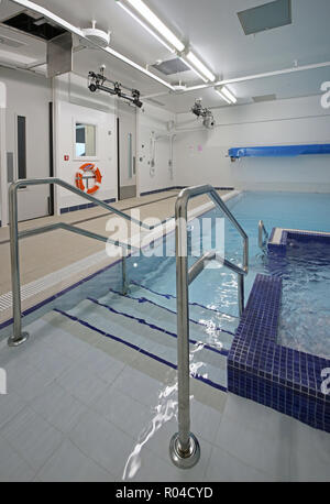 Hydrotherapy pool in a brand new special school for children with severe learning difficulties, Southwark, London, UK - Stock Photo