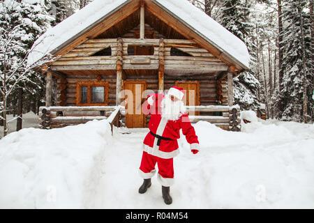 The daily life of Santa Claus. Home of Santa Claus at the North Pole. - Stock Photo
