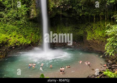 La Fortuna Waterfall, Alajuela Province, Costa Rica, Central America - Stock Photo