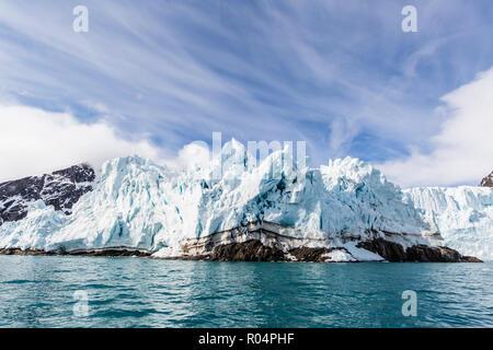 Monacobreen (Monaco Glacier) on the northeastern side of the island of Spitsbergen, Svalbard, Arctic, Norway, Europe