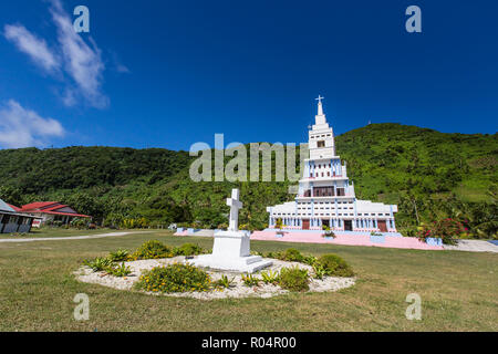 St. Peter Chanel Catholic Church in Poi, Futuna Island, French Territory of Wallis and Futuna Islands, South Pacific Islands, Pacific - Stock Photo