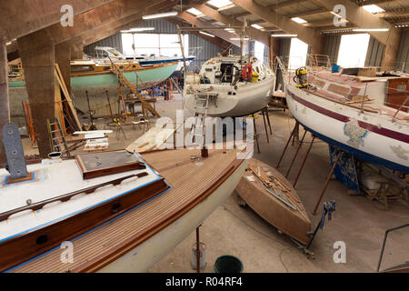 Shipyard workshop in Bretagne (Brittany), France - Stock Photo