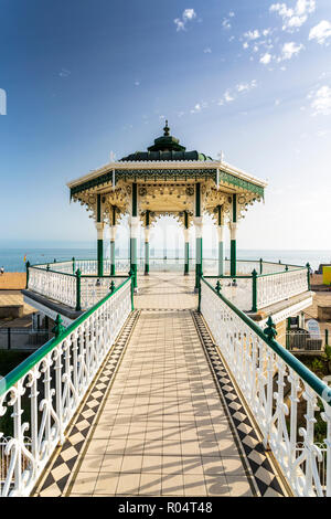 Bandstand at Brighton Beach Seafront, Brighton, East Sussex, England, United Kingdom, Europe - Stock Photo
