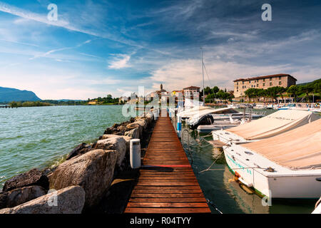 Clusane d'Iseo, Iseo Lake, Brescai province, Lombardy district, Italy, Europe - Stock Photo