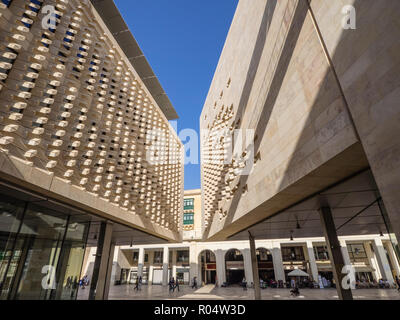 The new Parliament Building designed by Renzo Piano, Valletta, Malta, Europe - Stock Photo
