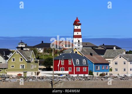 Alnes fishing village, Godoy Island, Alesund City, More og Romsdal County, Norway, Scandinavia, Europe - Stock Photo