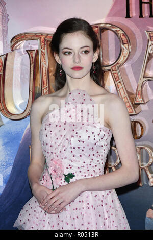 London, UK. 1st Nov 2018. Mackenzie Foy attend The Nutcracker and the Four Realms - UK premiere at Vue Westfield, Westfield Shopping Centre, Ariel Way on 1st Nov 2018, London, UK. Credit: Picture Capital/Alamy Live News - Stock Photo