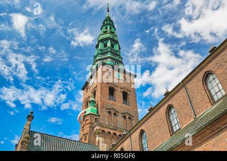 Copenhagen, Saint Nicholas Church (Kunsthallen Nikolaj) - Stock Photo