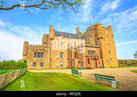 Castle of Mey of the Highland in Scotland, United Kingdom. - Stock Photo