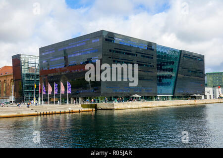 The Black Diamond Library building Copenhagen Denmark capital city - Stock Photo