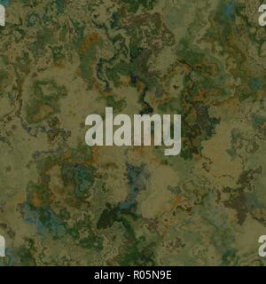 Fantasy planet terrain illustration seamless texture or