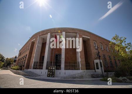 TIRANA, ALBANIA - 3 September, 2018: The building of National Bank of Albania (Bankes se Shqiperise). ALBANIA - Stock Photo