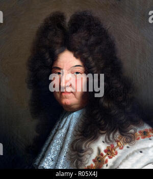 Louis XIV. Portrait of King Louis XIV of France (1638-1715), after Hyacinthe Rigaud, oil on canvas - Stock Photo