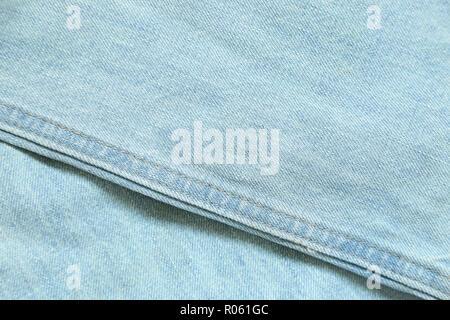Light blue denim Jeans texture background - Stock Photo