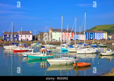 The Harbour at Aberaeron, Cardigan Bay, Wales, United Kingdom, Europe - Stock Photo