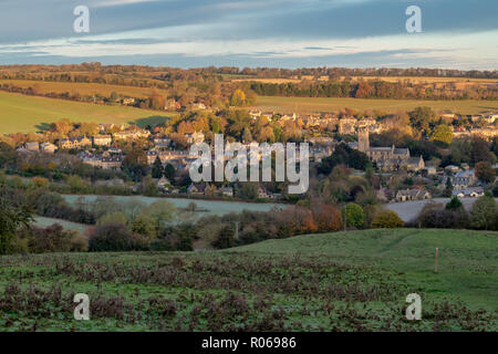 Blockley village in the autumn at sunrise. Blockley, Gloucestershire, Cotswolds, England - Stock Photo