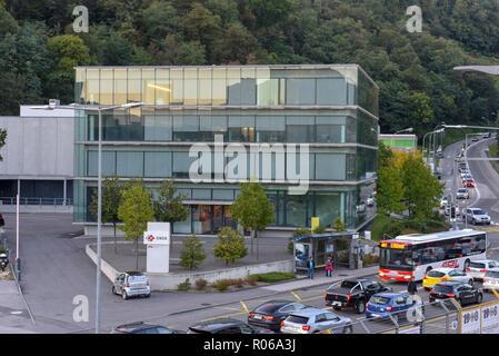 Lugano, Switzerland - 21 September 2017: Swiss National Supercomputing Centre at Lugano on Switzerland - Stock Photo