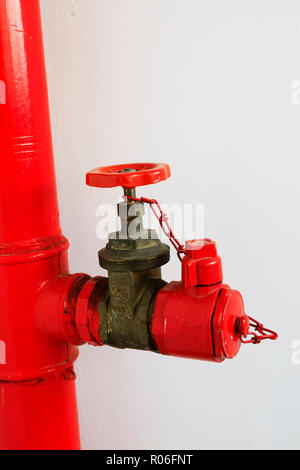 Fire hose riser attachment in a high rise tower block, Nicosia, Cyprus October 2018 - Stock Photo