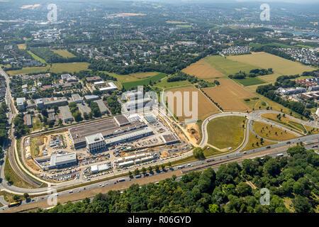 Aerial view, Deutsche Bundesbank, The new Bundesbank branch in Dortmund is located directly on the B 1, Dortmund, Ruhr area, North Rhine-Westphalia, G - Stock Photo