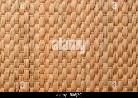 Backdrop of Woven Bamboo. Copy space, view from above. - Stock Photo