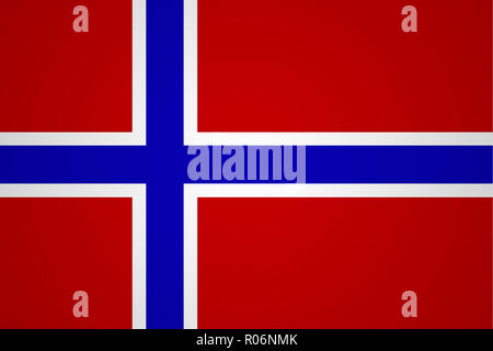 Flag of Norway in minimalistic design and high quality - Stock Photo