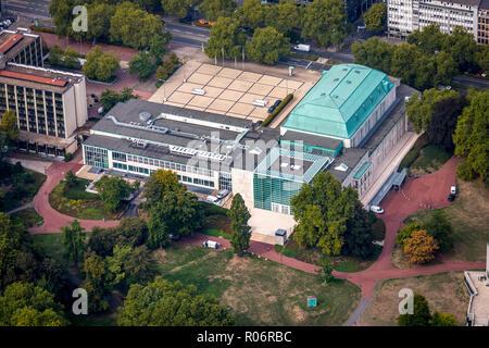 Philharmonie Essen next to Aalto-Theater, Essen-Mitte, Essen, Ruhr Area, North Rhine-Westphalia, Germany, DEU, Europe, aerial view, birds-eyes view, a - Stock Photo