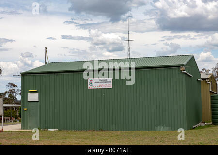 Rural fire service in Towrang which is a small town near the city of Goulburn in regional New South Wales,Australia - Stock Photo