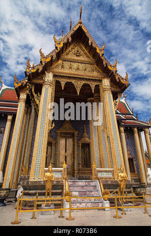 Entrance to the Royal Pantheon at Wat Phra Kaew, Bangkok, Thailand. - Stock Photo
