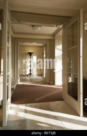Shadows in hallway in Kensington Palace - Stock Photo