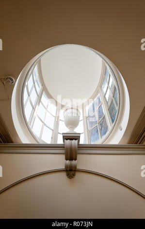 Domed window in Kensington Palace, London, UK - Stock Photo