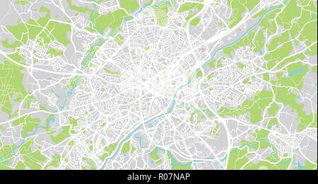 Limoges France Map.Urban Vector City Map Of Limoges France Stock Vector Art