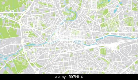 Urban Vector City Map Of Rennes France Stock Vector Art