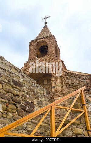 David Gareji or Gardja cave monastery church in Georgia, Kakheti region - Stock Photo